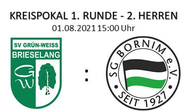 Kreispokal 1. Runde am 01.08.2021